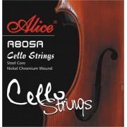 Jeu violoncelle 4/4 ALICE tirant medium (A805)