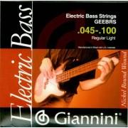 Jeu Guitare électrique Basse GIANNINI (GEEBRS)